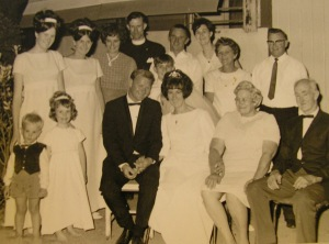 Kirwan family wedding 1968